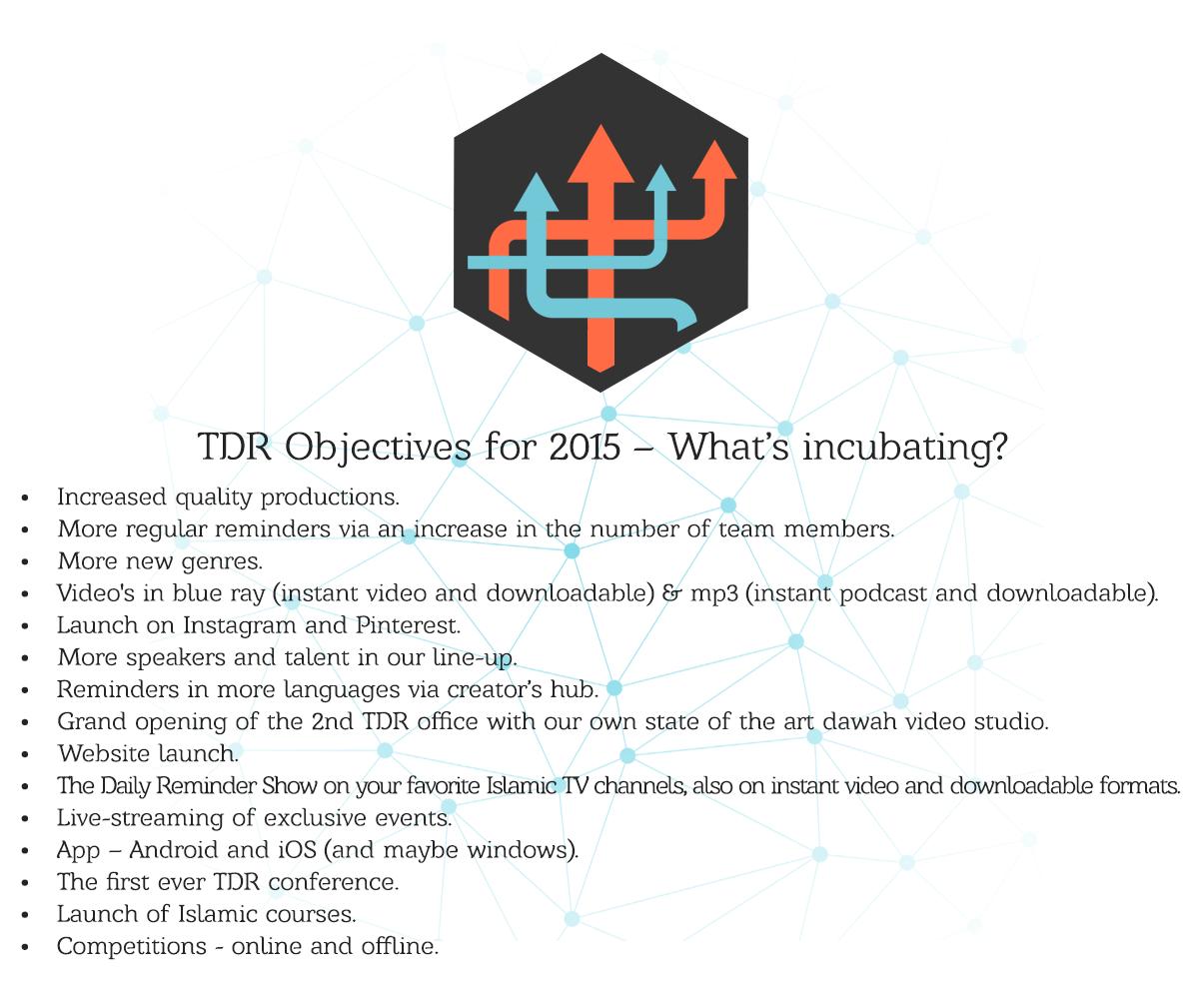 TDR Objectives 2015