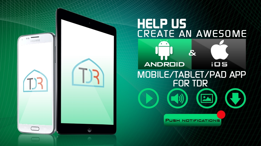 Help Us Create An App For TDR