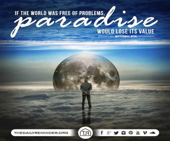 If the world was free of problems, Paradise would lose its value. ~ Mufti Ismail Menk