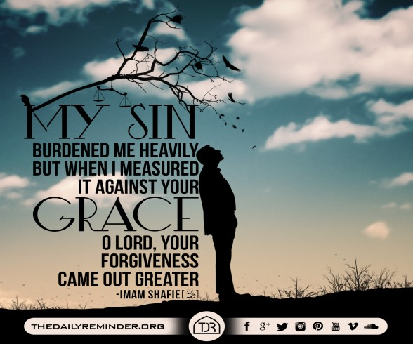 My sin burdened me heavily, but when I measured it against Your grace, O Lord, Your forgiveness came out greater.