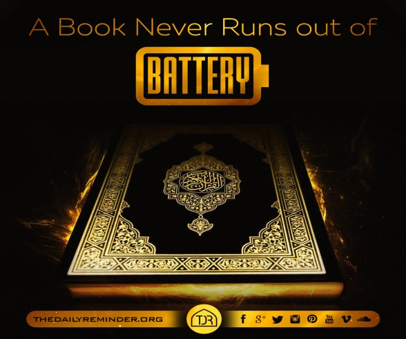 A book never runs out of battery...