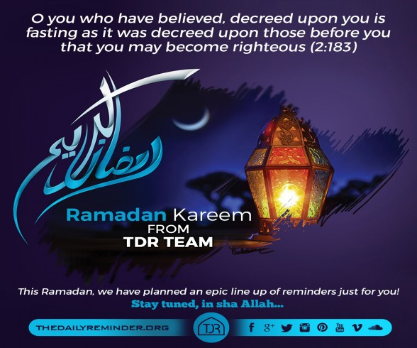 O you who have believed, decreed upon you is fasting as it was decreed upon those before you that you may become righteous. [2:183]  Ramadan Kareem from TDR Team! ????  This Ramadan, we have planned a