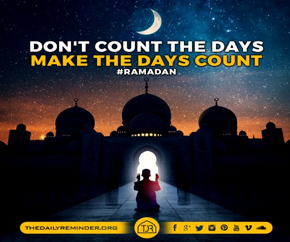 Don't count the days...  Make the days count...